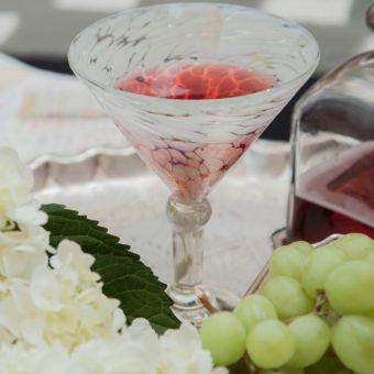 Ariel Handblown Glass Martini Glasses (set of four)