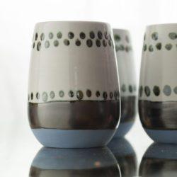 Maya Hand Painted Ceramic Mugs (set of two)