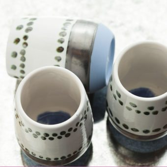 Maya Hand Painted Ceramic Mugs (set of two)