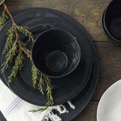 Tula Black Porcelain Cups (set of three)