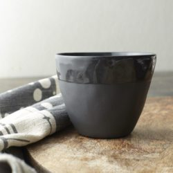 Tula Black Porcelain Cups (set of three)