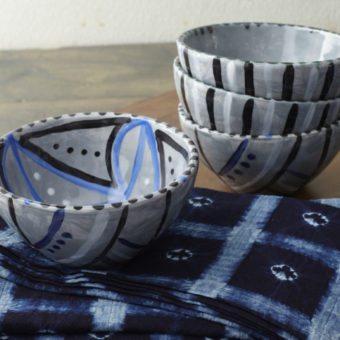 Allie Cotton Indigo Patterned Napkins