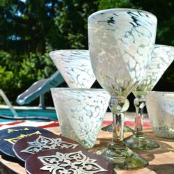 Hilary Handblown Glass Cocktail Glasses (set of four)