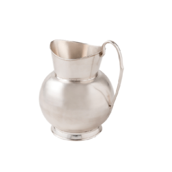 Moto Silver Polished Metal Pitcher
