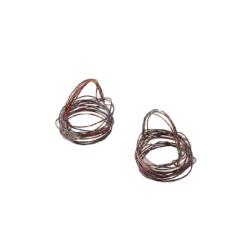 Nano Handmade Leather Woven Napkin Rings (set of two)