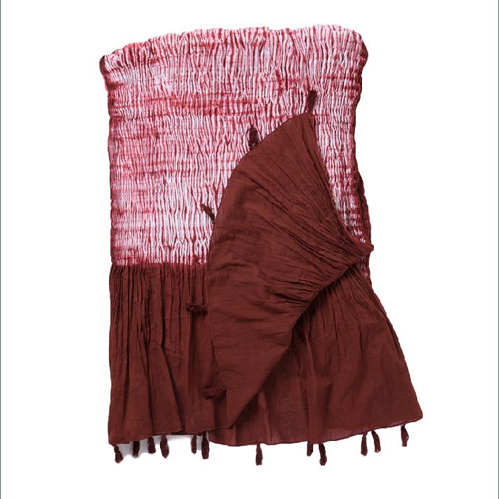 Amelia Paprika Red Patterned Cotton Table Linen