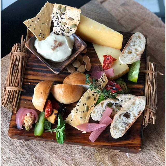 bread and smoked manchego cheese plate