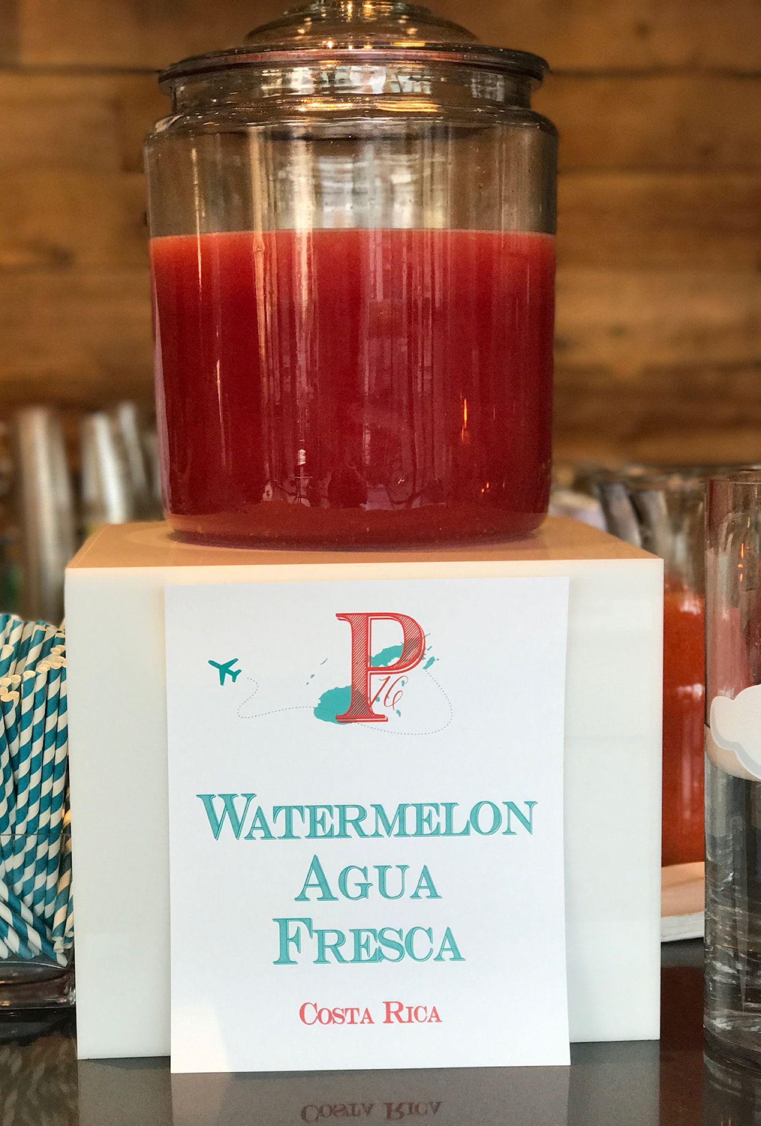 Mitzvah Catering Themed Specialty Drinks Watermelon Agua Fresca
