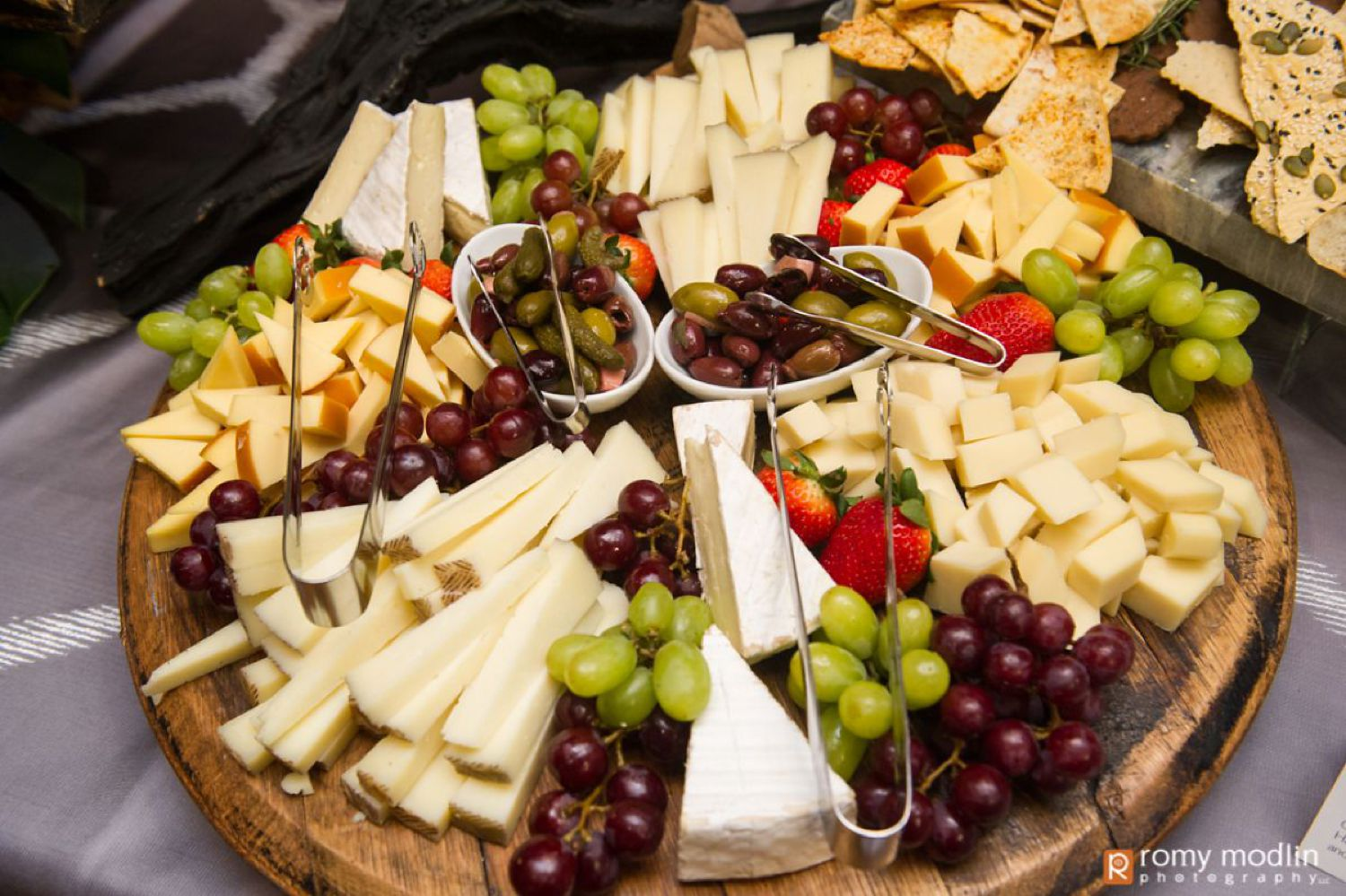 Mitzvah Catering Buffet Cheese and Fruit