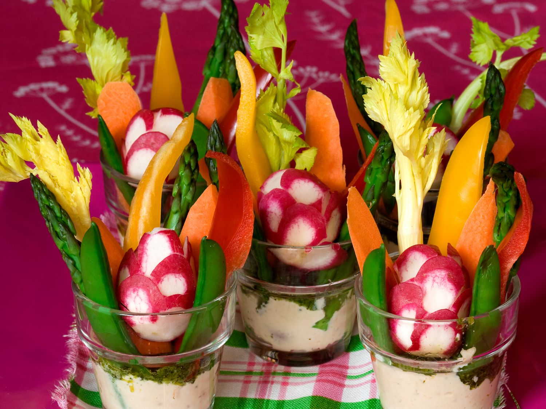 Mitzvah Catering Veggie Passed Treats