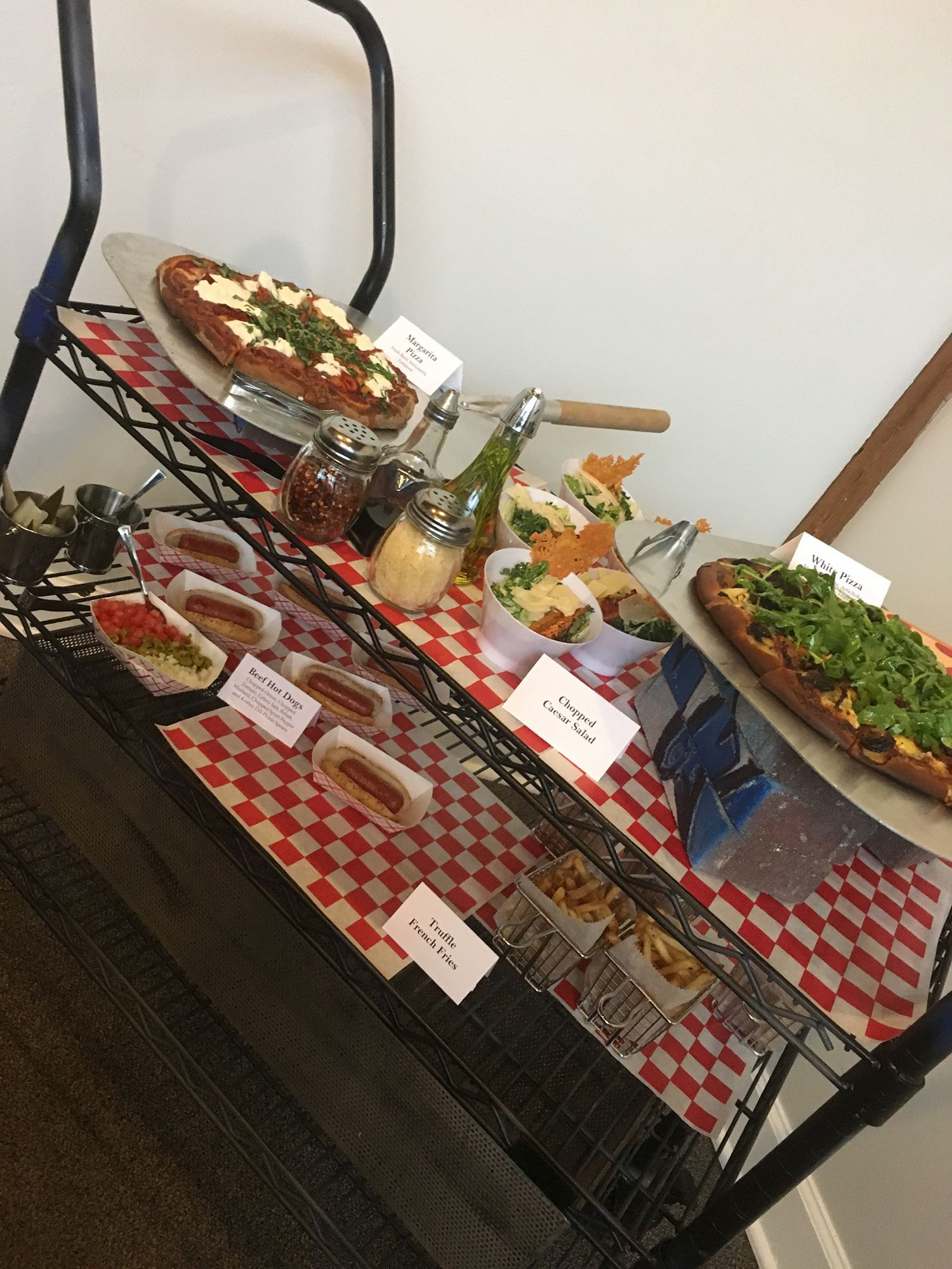 Mitzvah Catering Buffet Station Chicago Theme