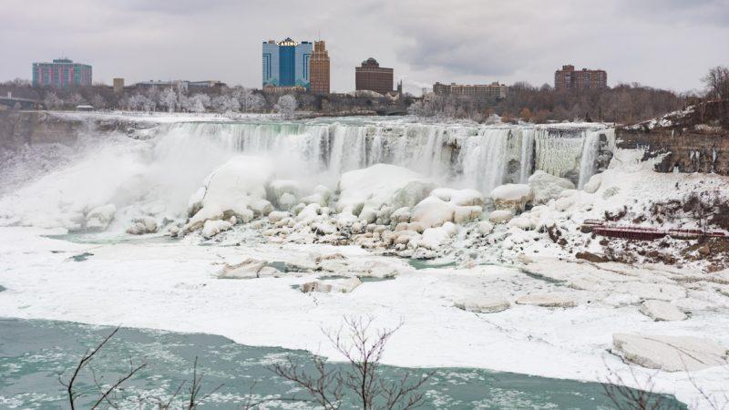 frozen niagara falls on the american side