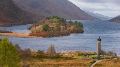 Loch Shiel and Glenfinnan Memorial is a highlight on a Scotland Roadtrip
