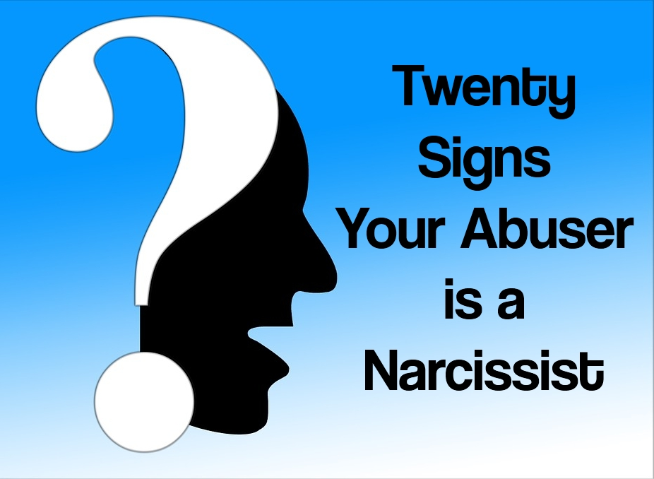 Question Mark Over Silouette Twenty Questions Abuser is Narcissist