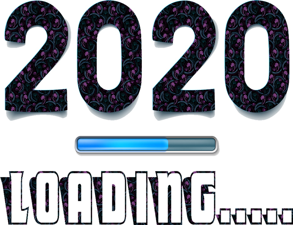 Image of 2020 loading on a computer