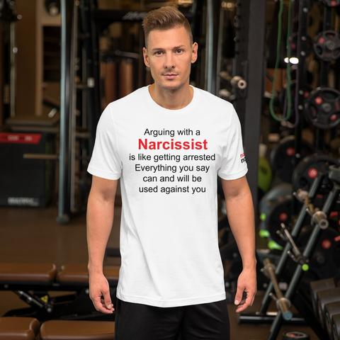 image of man in positive affirmation tshirt