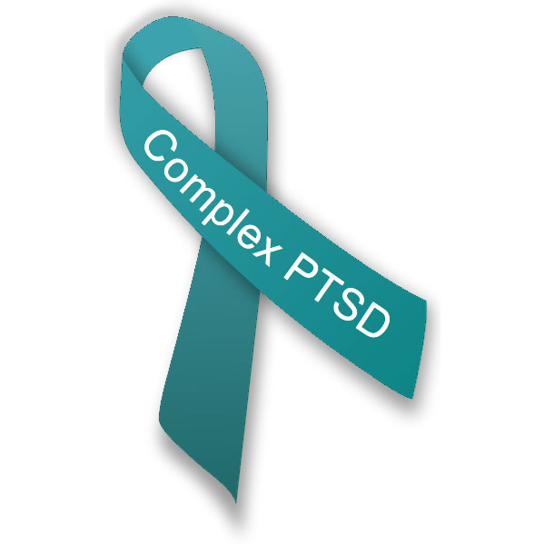 Green Complex PTSD Awareness Ribbon