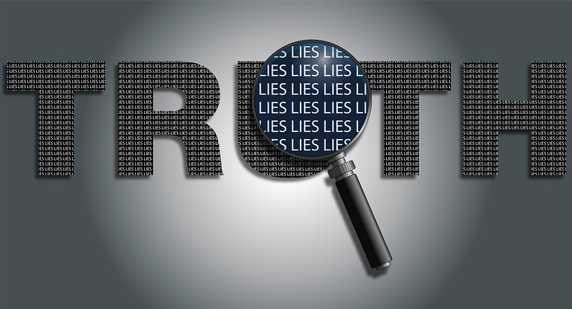 Truth and Lies Word Art