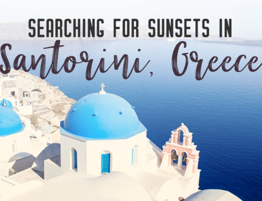 Searching for sunsets in Santorini, Greece | What's not to love about Santorini, one of the most well-known islands in Greece. It's got everything you'd want in a Greek holiday: sun, sand, shopping, sunsets and iconic white buildings. | My Wandering Voyage travel blog