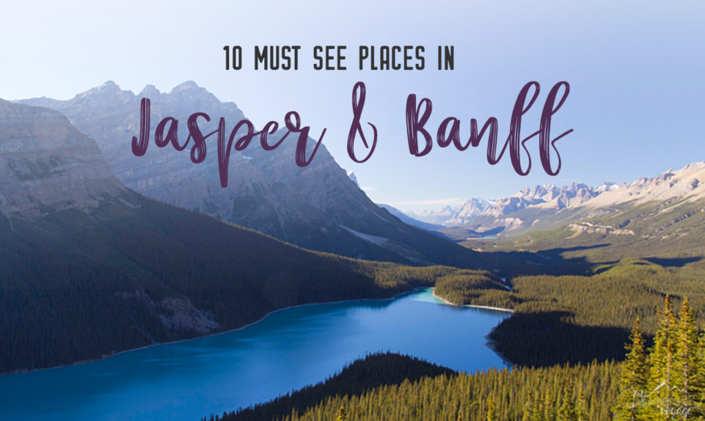 Must-see places between Jasper and Banff National Parks, Alberta