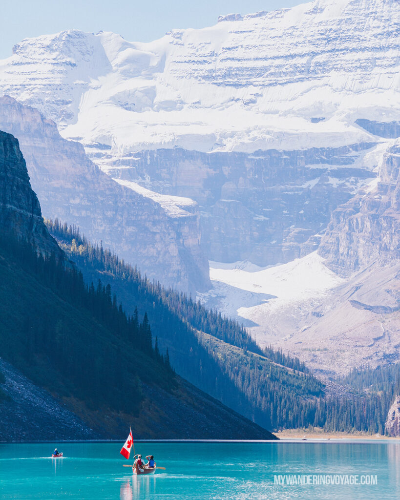 Lake Louise and canoe | Top things to see in Jasper and Banff | My Wandering Voyage