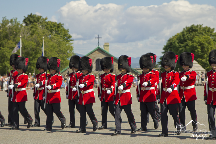 Changing of the guard at Citadelle de Quebec