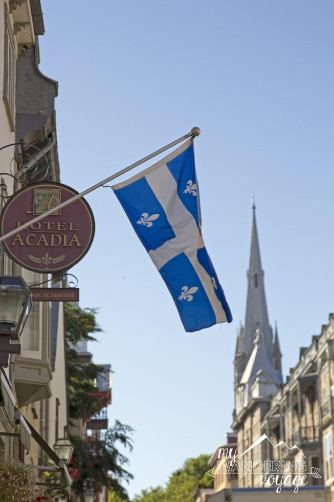 Old Quebec City Quebec Flag