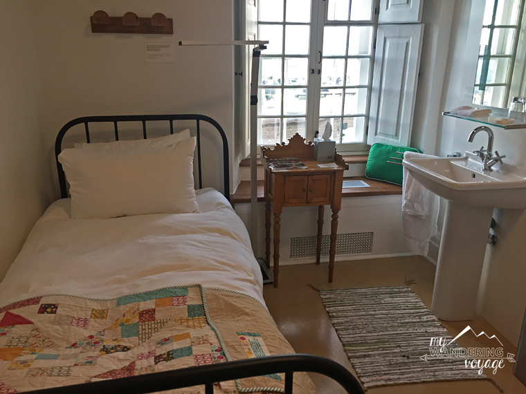 Authentic room at Le Monestere des Augustines monastery   My Wandering Voyage travel blog