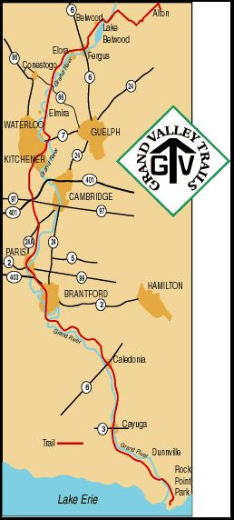 Grand Valley Trail map