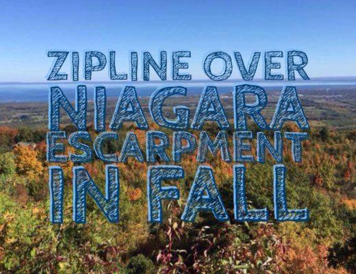 Zipline over Niagara Escarpment in Fall | My Wandering Voyage Travel Blog