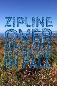 Zipline over Niagara Escarpment in Fall   My Wandering Voyage Travel Blog