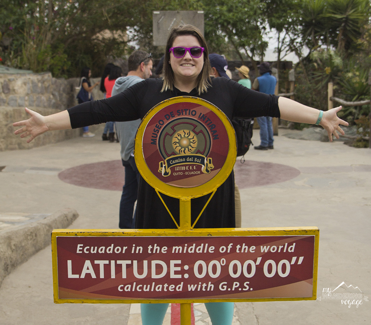 Standing on the Equator in Quito, Ecuado | MY Wandering Voyage travel blog