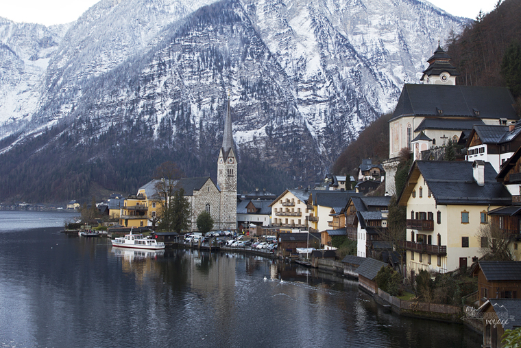 Postcard view of Hallstatt Austria | My Wandering Voyage travel blog