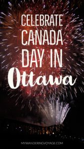 What's the best way to celebrate Canada Day? Don your red and white and join the part in Ottawa!   My Wandering Voyage Travel Blog