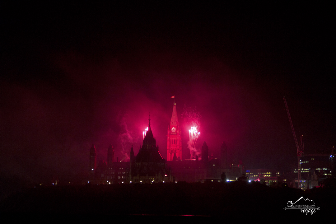 End Canada Day with a bang by watching the fantastic fireworks show at Parliament Hill in Ottawa   My Wandering Voyage travel blog