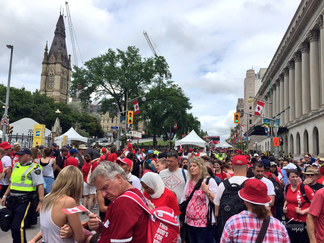 Lots of people attended the Canada Day celebrations in Ottawa for Canada 150   My Wandering Voyage travel blog
