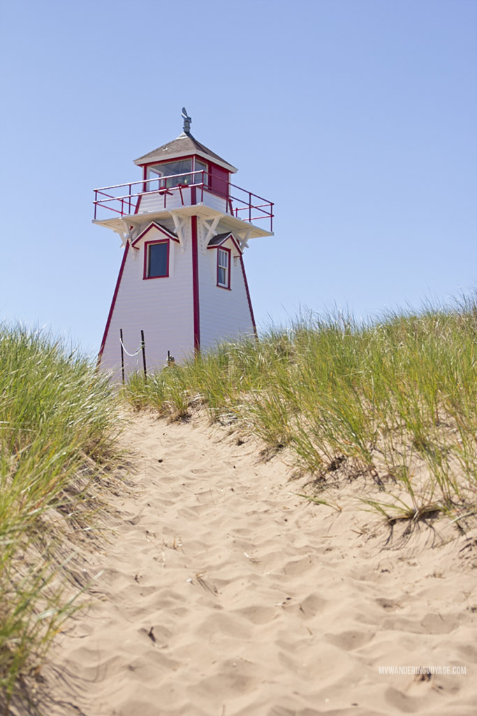 Covehead Harbour lighthouse - Prince Edward Island, one of the four Canadian Atlantic provinces, is full of stunning landscapes and island hospitality. Known for its red-sandy beaches and glorious seafood, PEI offers a little something for everyone. Nine places to explore in Prince Edward Island | My Wandering Voyage Travel Blog