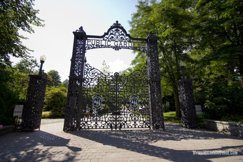 Halifax Public Gardens - From its delicious eats, historic buildings and magnificent waterfront, there is much to do in Halifax. Bring your walking shoes and a camera, because you're going to want to capture the beauty of this city on the Atlantic Ocean   My Wandering Voyage travel blog