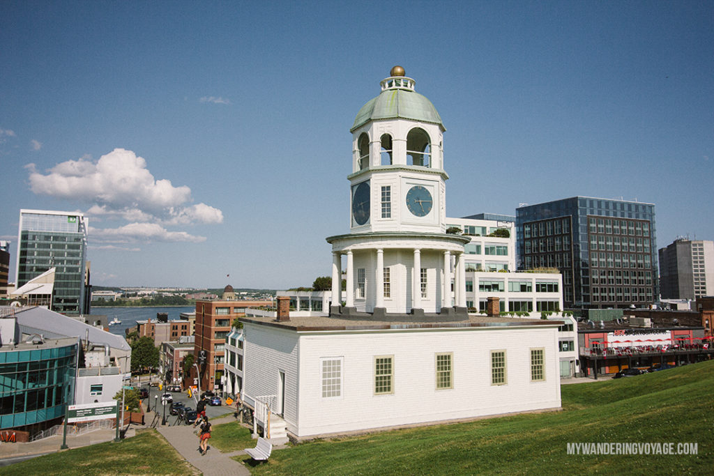 Halifax Town Clock - From its delicious eats, historic buildings and magnificent waterfront, there is much to do in Halifax. Bring your walking shoes and a camera, because you're going to want to capture the beauty of this city on the Atlantic Ocean   My Wandering Voyage travel blog