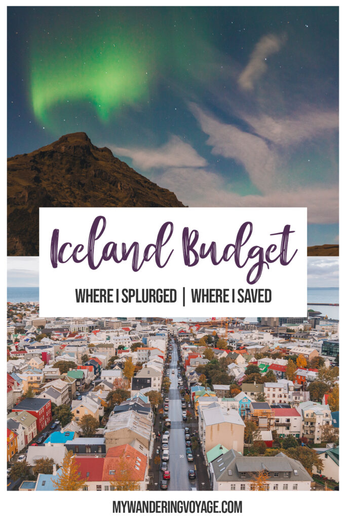 Iceland is known for being cheap to get to but expensive to stay and explore. I'll walk you through what I spent in Iceland. Free travel budget planner. | My Wandering Voyage travel blog