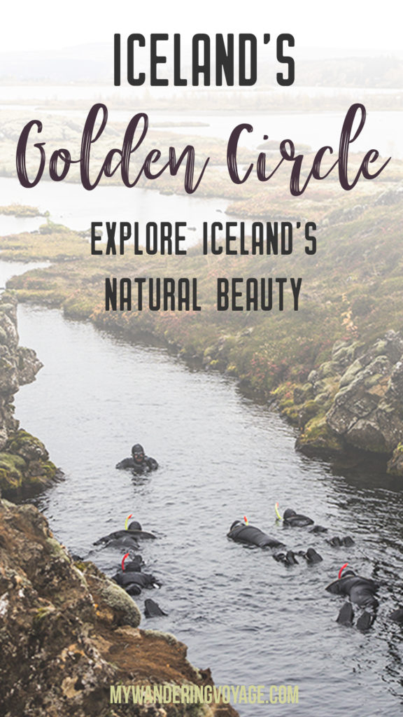 The Golden Circle is a well-known destination in Iceland, and it's easy to see why. The Golden Circle is part of a road loop that can be seen in a day from Reykjavik and hits some of Iceland's most famous landmarks   My Wandering Voyage travel blog