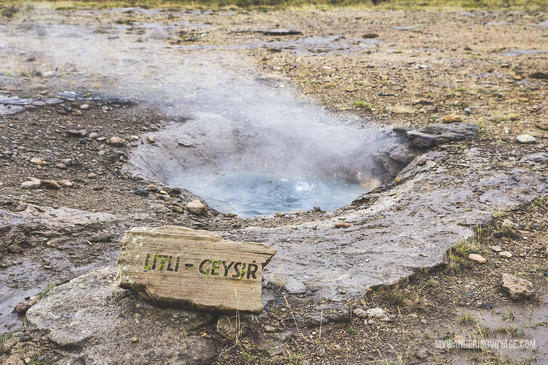Litli-Geysir - The Golden Circle is a well-known destination in Iceland, and it's easy to see why. The Golden Circle is part of a road loop that can be seen in a day from Reykjavik and hits some of Iceland's most famous landmarks   My Wandering Voyage travel blog