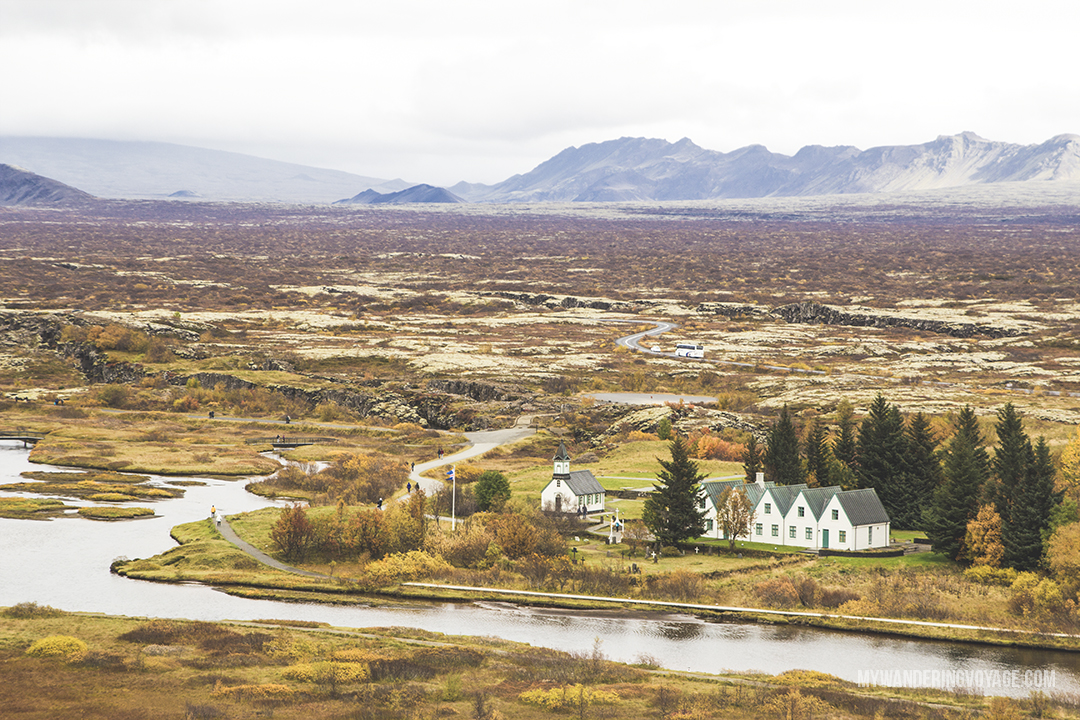 Thingvellir National Park - The Golden Circle is a well-known destination in Iceland, and it's easy to see why. The Golden Circle is part of a road loop that can be seen in a day from Reykjavik and hits some of Iceland's most famous landmarks   My Wandering Voyage travel blog
