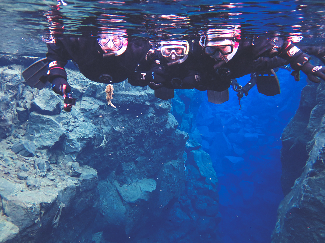 Silfra snorkelling - The Golden Circle is a well-known destination in Iceland, and it's easy to see why. The Golden Circle is part of a road loop that can be seen in a day from Reykjavik and hits some of Iceland's most famous landmarks   My Wandering Voyage travel blog