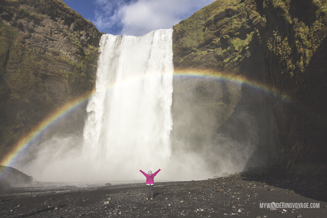 Skogafoss - Don't leave Iceland without going to these eight stops along Iceland's South Shore | My Wandering Voyage travel blog