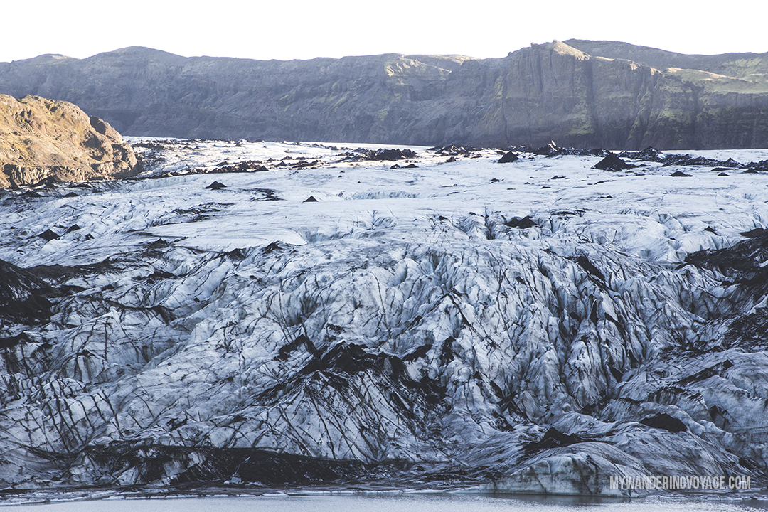 Solheimajokull glacier - Don't leave Iceland without going to these eight stops along Iceland's South Shore | My Wandering Voyage travel blog