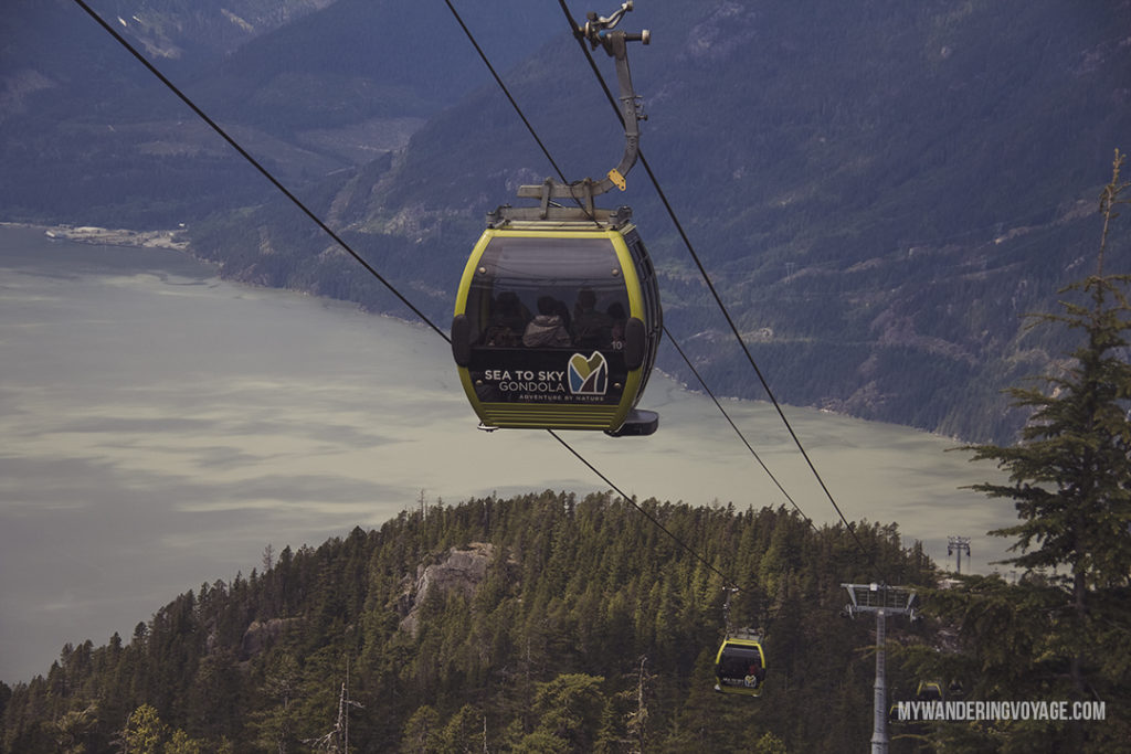 Sea to Sky Gondola | Get out and explore Beautiful British Columbia. From the coastal rainforests to the summit of mountains to cities like Vancouver and Victoria, there is so much to discover in British Columbia. Here's everything you need to see in 10 days in British Columbia | My Wandering Voyage travel blog