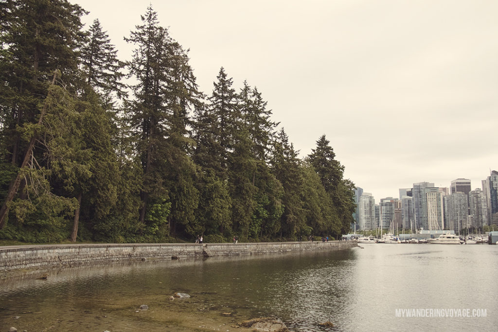 Vancouver seawall in Stanley Park | Get out and explore Beautiful British Columbia. From the coastal rainforests to the summit of mountains to cities like Vancouver and Victoria, there is so much to discover in British Columbia. Here's everything you need to see in 10 days in British Columbia | My Wandering Voyage travel blog