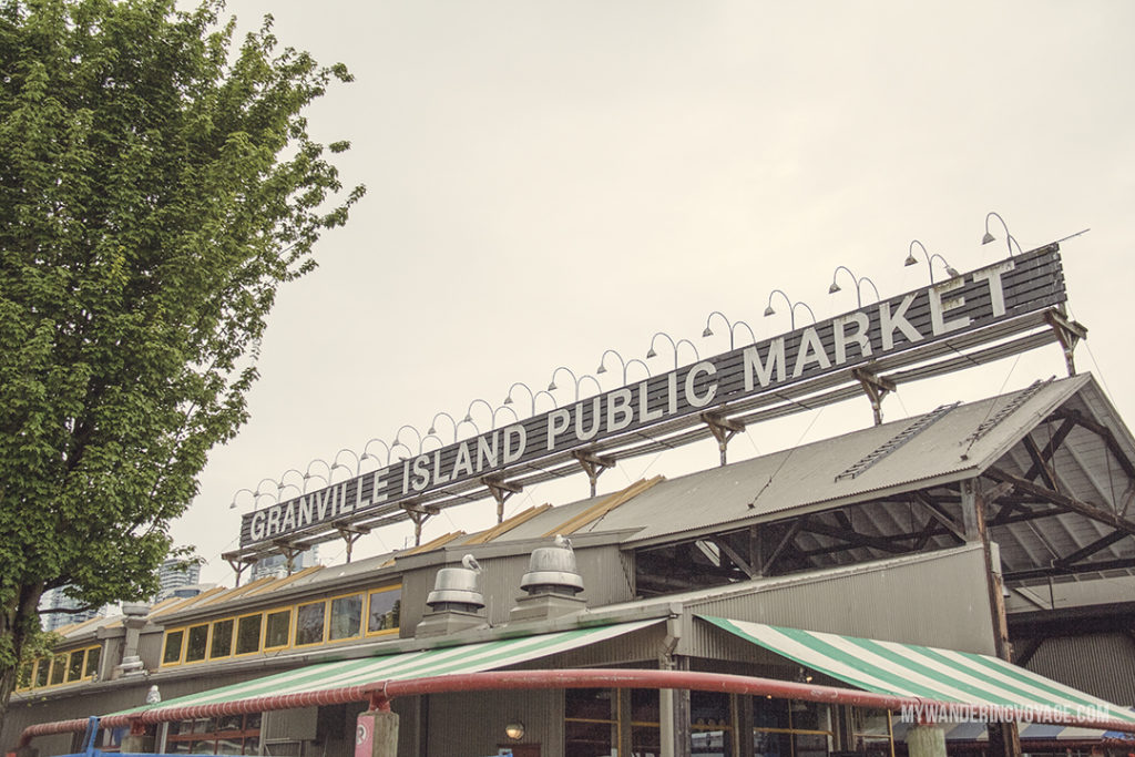 Granville Island Public Market | Get out and explore Beautiful British Columbia. From the coastal rainforests to the summit of mountains to cities like Vancouver and Victoria, there is so much to discover in British Columbia. Here's everything you need to see in 10 days in British Columbia | My Wandering Voyage travel blog