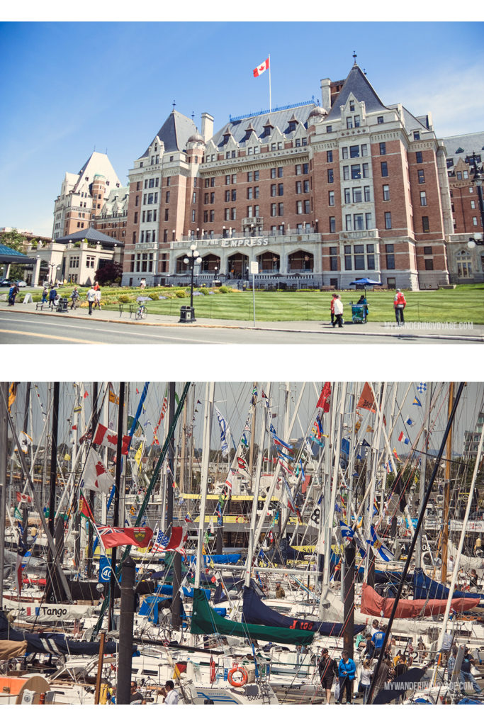 Fairmont Empress | Victoria, BC, located on Vancouver Island, is a regal city ready for exploring. So whether you stay for a day or a week, there's always something charming to do in Victoria, BC. #VictoriaBC #BritishColumbia #Canada #exploreCanada #exploreBC